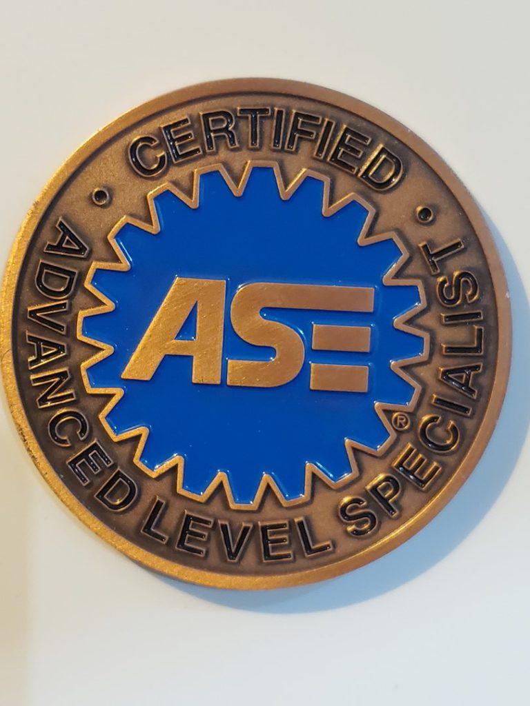 ASE certified specialist